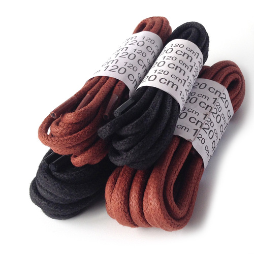High Qualitay Classic Waxed Cotton Shoelaces Hot Selling on Amazon