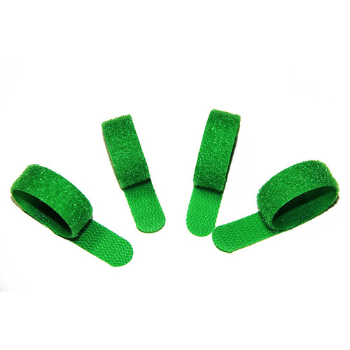 Green Hook and Loop Cable Tie