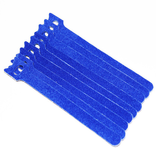 Hook and Loop Cable Tie in Blue