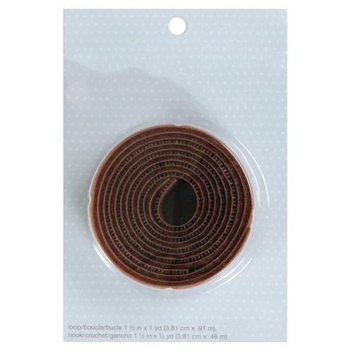 Hook and Loop_Brown Small Roll Blister Packing